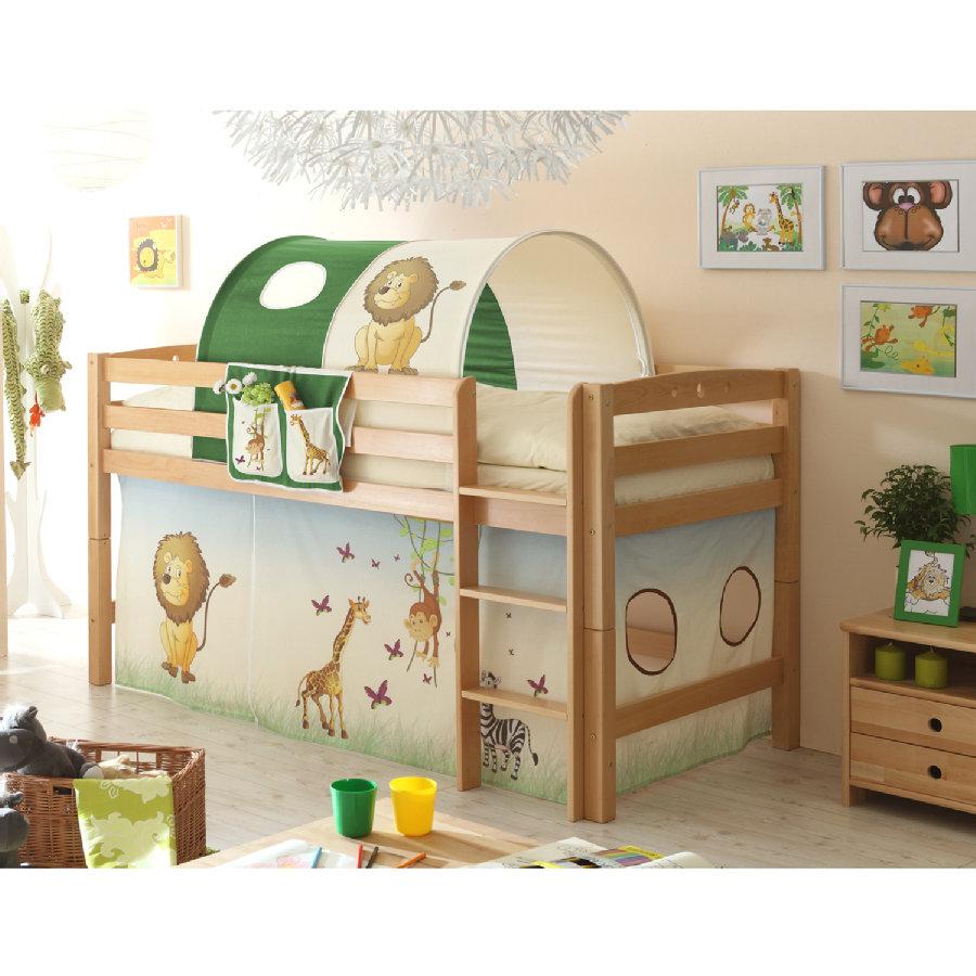ticaa hochbett timmy r buche massiv natur safari shop mom. Black Bedroom Furniture Sets. Home Design Ideas