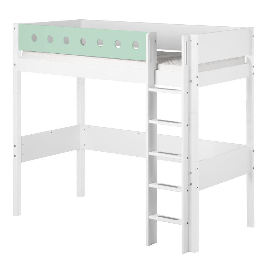 flexa hochbett white 90 x 200 cm wei mintgr n shop mom. Black Bedroom Furniture Sets. Home Design Ideas