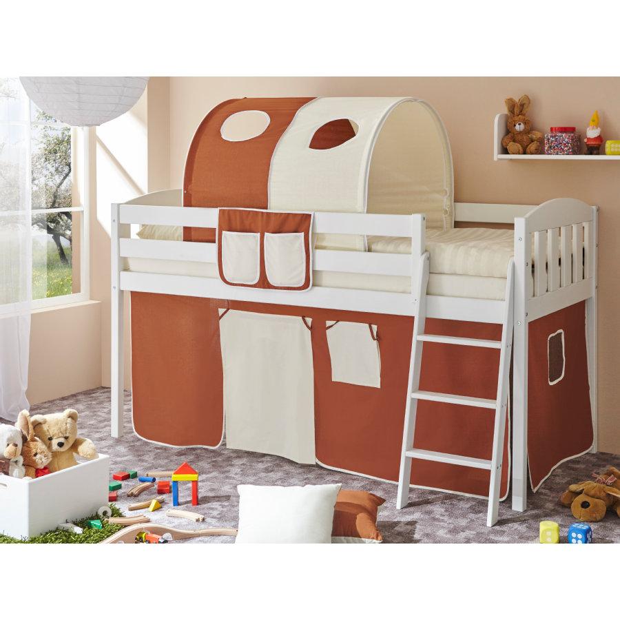 ticaa hochbett eric v kiefer wei braun beige shop mom. Black Bedroom Furniture Sets. Home Design Ideas