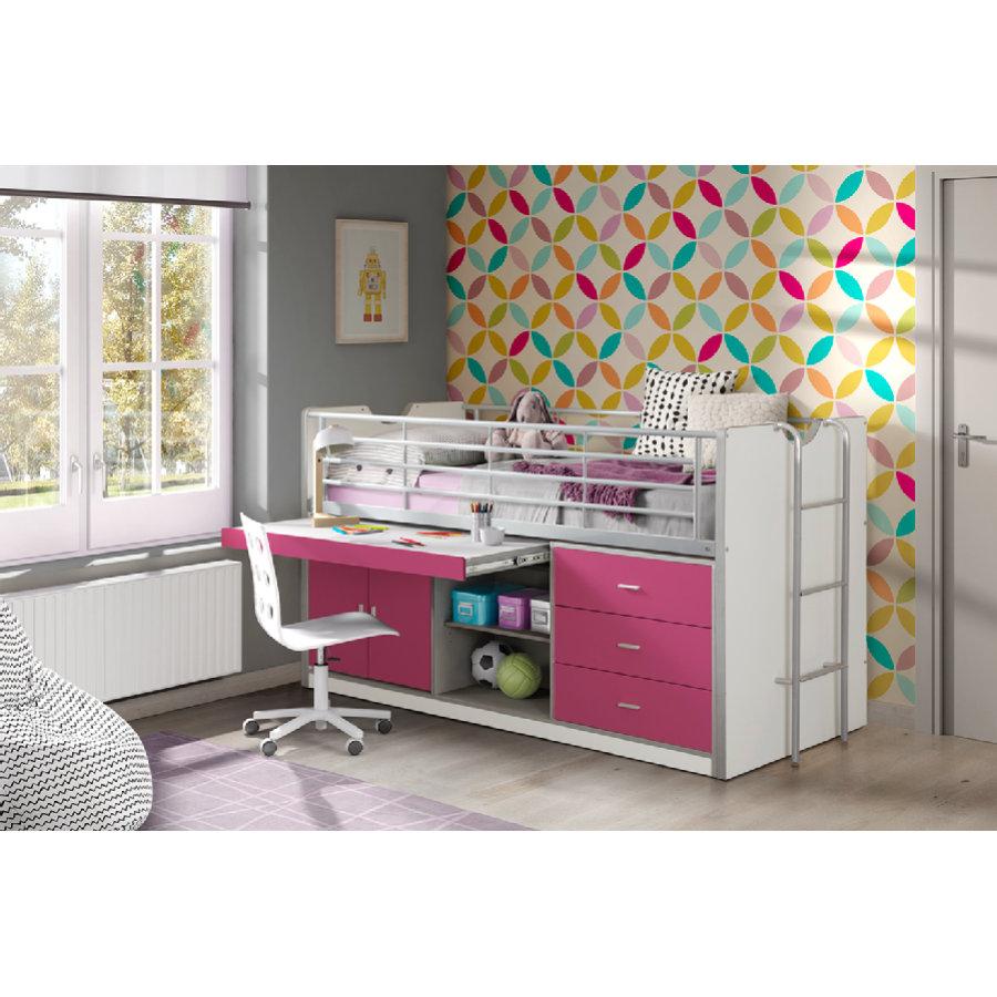 vipack hochbett bonny schubladen 44 wei fuchsia shop mom. Black Bedroom Furniture Sets. Home Design Ideas