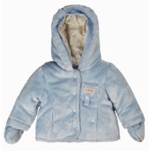 Kanz Teddyplüschjacke, hellblau - Gr.Newborn (0 - 6 Monate) - Jungen