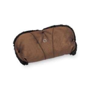 MOON Handmuff chocolate/structure - braun