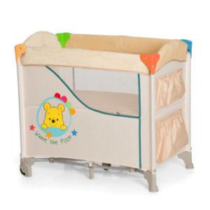 hauck reisebettmatratze sleeper pooh 60x120cm blau cm shop mom. Black Bedroom Furniture Sets. Home Design Ideas