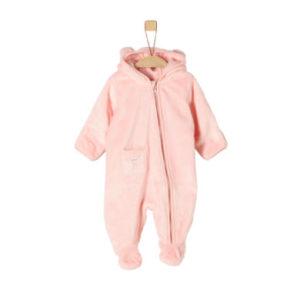 s.Oliver Girls Plüsch-Overall pink - Gr.Newborn (0 - 6 Monate) - Mädchen