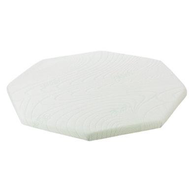 Alvi ® Laufgittermatratze 8-eckig 115 cm - weiß