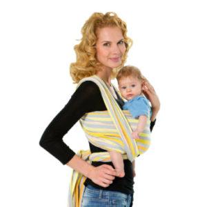 Amazonas Baby Tragetuch Carry Sling Saffron 510cm - gelb