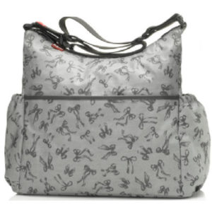 Babymel Wickeltasche Big Slouchy Bow Grey - grau