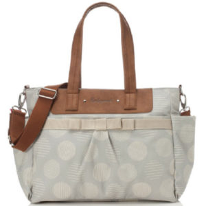 Babymel Wickeltasche Cara Retro Dot Grey - grau