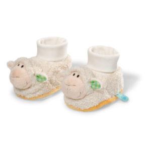 Nici My First Babyschuhe: Lamm mit Rassel 36950 - weiß