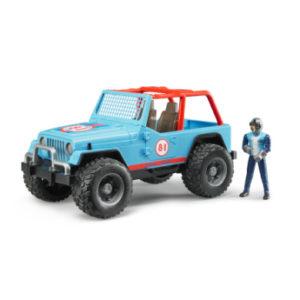 bruder ® Jeep® Cross Country Racer blau mit Rennfahrer 02541