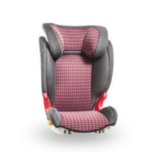 Baier Kindersitz Adefix Karo grau/rot