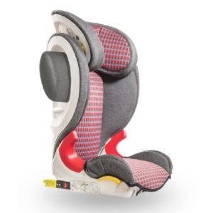 Baier Kindersitz Adefix SP Karo grau/rot