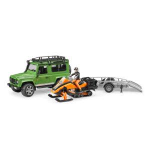 bruder ® Land Rover Defender Station Wagon mit Anhänger 02594