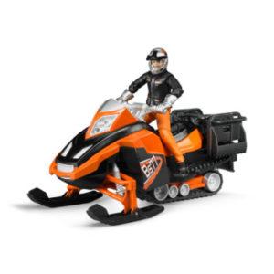 bruder ® Snowmobil mit Fahrer und Ausstattung 63101
