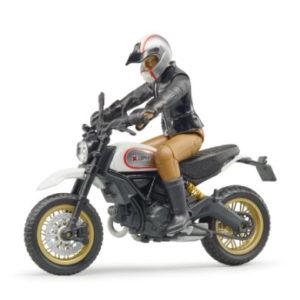 bruder ® Scrambler Ducati Desert Sled mit Fahrer 63051 - schwarz