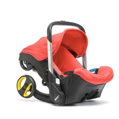 Doona DOONA Babyschale Plus rot (love) mit voll integriertem Fahrgestell, 2 in 1
