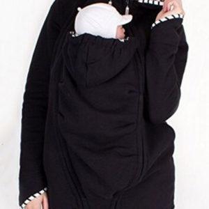 Damen Kapuzenmantel für Mutterschafts-Sweatshirt mit Mutter- und Babytrage