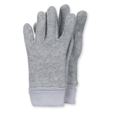 Sterntaler Fingerhandschuh Microfleece silber melange - grau - Gr.Größe 3 - Unisex
