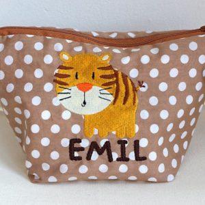 Wickeltasche mit Tiger