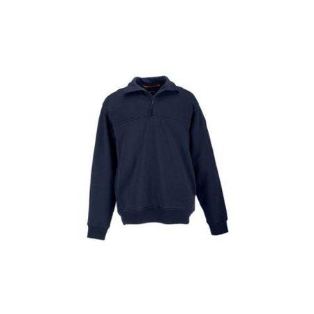 1/4 Zip Job Shirt, Fire Navy