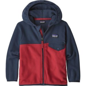 Baby Micro D Snap-T Jacket (Fire w/ New Navy)-2T