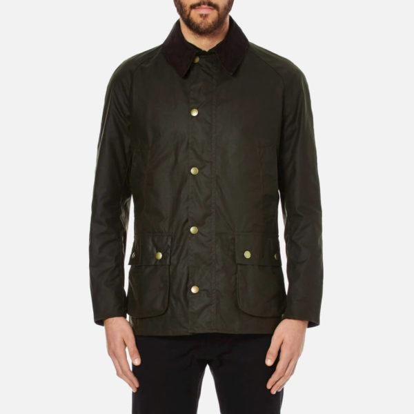 Barbour Men's Ashby Wax Jacket - Olive - L