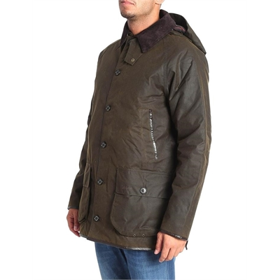 Barbour Waxed Cotton Hooded Padded Jacket