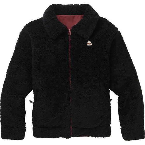 Burton Women's Lynx Reversible Jacket - Large - True Black / Rose Brown