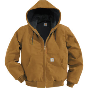 Carhartt Men's Duck Active Jacket - Thermal-Lined, Brown, Large, Regular Style, Model J131