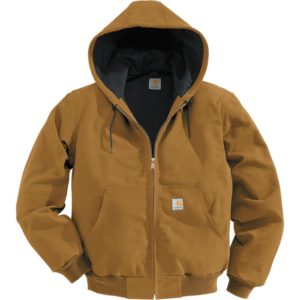 Carhartt Men's Duck Active Jacket - Thermal-Lined, Brown, Large, Tall Style, Model J131