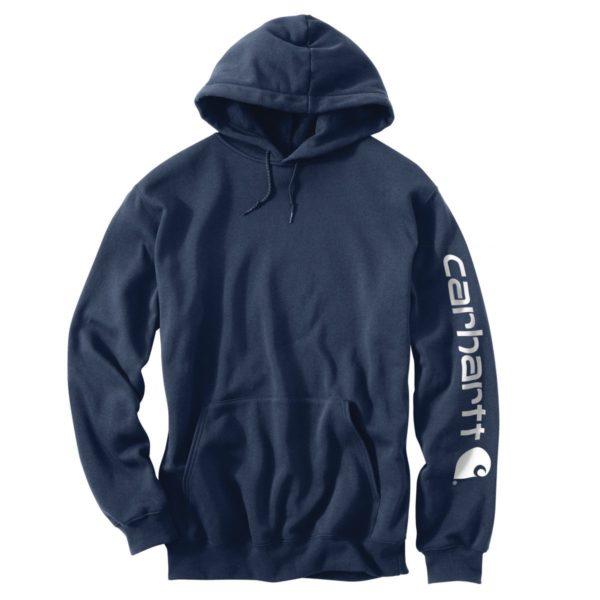 Carhartt Men's Midweight Hooded Logo Sweatshirt - Blue