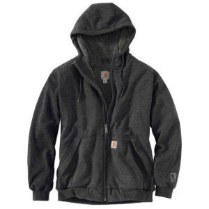 Carhartt Men's Rain Defender Rockland Sherpa-Lined Full-Zip Hoodie
