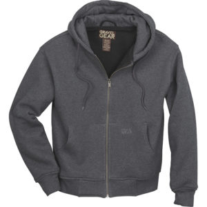 Gravel Gear Men's Hooded Thermal-Lined Sweatshirt - Heather Gray, Medium