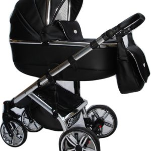 P'tit Chou Modena Kinderwagen-Buggy-Autostoel eco leder - Zwart