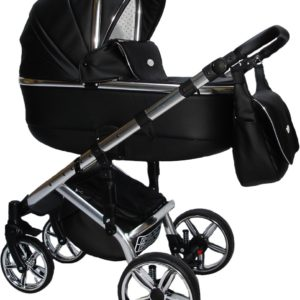 P'tit Chou Modena Kinderwagen - Buggy Eco leder - Zwart - Gratis accessoires