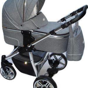 P'tit Chou Verona Kinderwagen - Buggy Stof - Grijs - Gratis accessoires