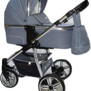 P'tit Chou Verona Kinderwagen - Buggy Stof - Jeans blauw - Gratis accessoires