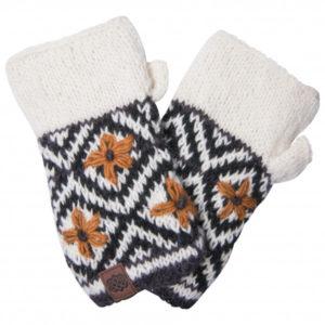 Sherpa - Nitya Handwarmer - Gants taille One Size, gris/blanc/noir