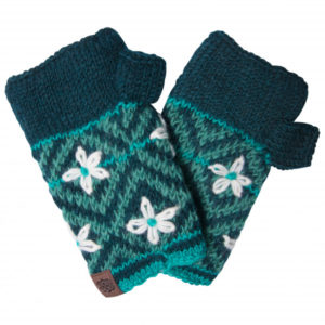 Sherpa - Nitya Handwarmer - Gants taille One Size, gris/blanc/noir;noir/turquoise