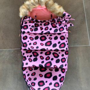 Universele voetenzak kinderwagen/buggy roze leopard